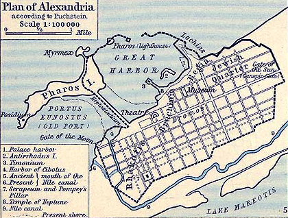 Map of Alexandria 30 BC