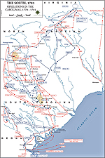 Map of the American Revolution: Operations in the Carolinas 1778-1781