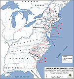 Map of the Principal Campaigns of the American Revolutionary War 1775-1783