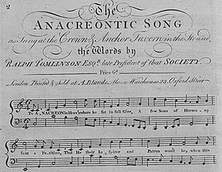 The Anacreontic Song