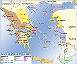 Map of the Ancient Greek Dialects