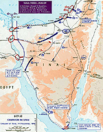 Map of the Second Arab-Israeli War 1956