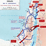 Map of the First Arab-Israeli War 1948