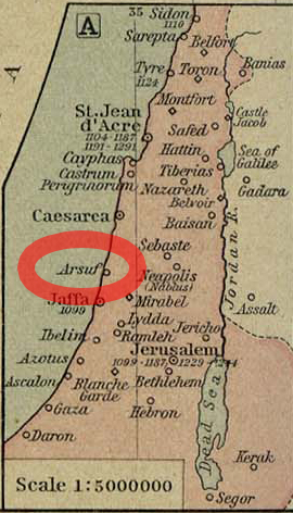 Arsuf Map