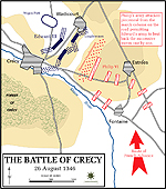 Map of the Battle of Crecy 1346
