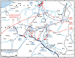 Map of the Battle of the Frontiers (North: Belgium and France) - August 1914