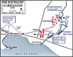 Map of the Battle of the Garigliano 1503