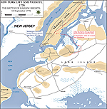 Map of the Battle of Harlem Heights - September 16, 1776