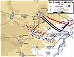 Map of the Battle of Leuthen - December 5, 1757 - The Kill