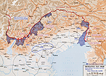 Map of the Battles of the Isonzo - 1915-1917