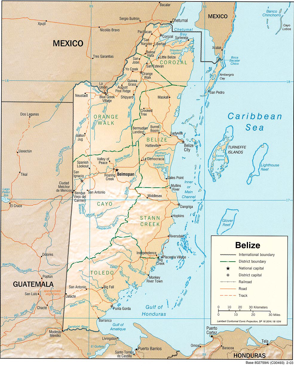 Map of Belize 2003