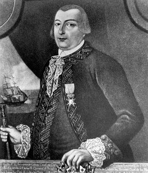 Spanish Governor of Louisiana Bernardo de Galvez, ousting the British from West Florida