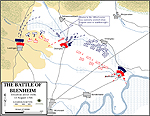 Map of the Battle of Blenheim - August 13, 1704: At 14.30h