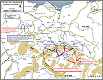Map of the Seven Years War: Bohemia 1757