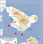 Map of the Battle of Bunker Hill - June 17, 1775 - Final British Attack