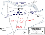 Map of the Battle of Breitenfeld - September 17, 1631 - Initial Dispositions