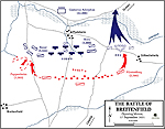Map of the Battle of Breitenfeld - September 17, 1631 - Opening Moves