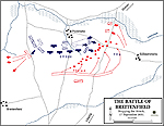Map of the Battle of Breitenfeld - September 17, 1631 - Stopping the Attack