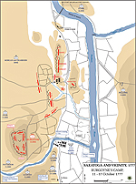 Map of the American Revolution: Burgoyne's Camp October 11-17, 1777