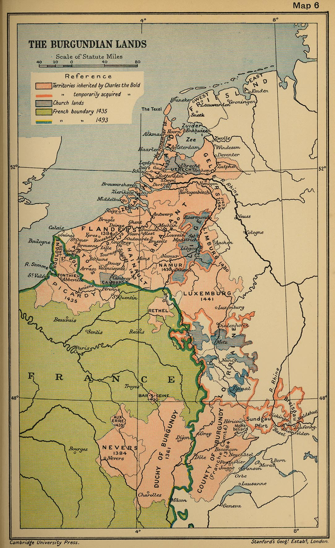 History Map of Burgundy