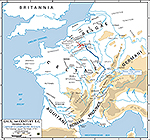 Map 57 BC Caesar's Campaign Against the Belgae
