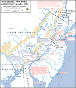 Map of the American Revolution: Operations in Pennsylvania and New Jersey, May-July 1778