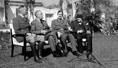 CHARLES DE GAULLE AT THE CASABLANCA CONFERENCE - JANUARY 1943