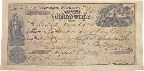 Check for the Purchase of Alaska 1868
