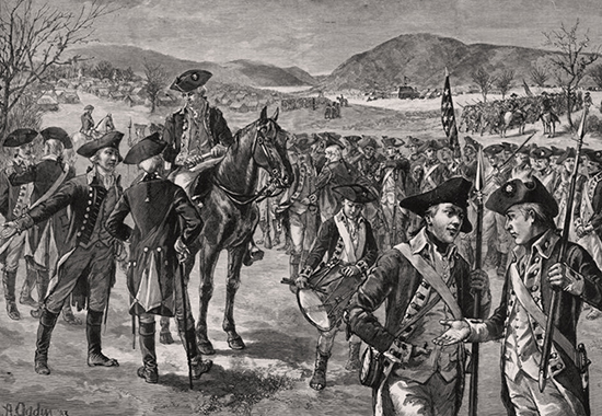 Disbanding the Continental Army at New Windsor, New York, November 3, 1783
