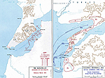 Map of the Dardanelles and Gallipoli Peninsula - Feb-Apr 1915