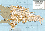 Map of Dominican Republic 1970