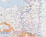 Map of WWI: Eastern Front - May 1-Sept 30, 1915: German Breakthrough in the Gorlice-Tarn�w Area