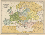 Map of Europe, 814 AD