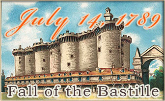 Fall of the Bastille - July 14, 1789