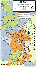 Map of France 1314