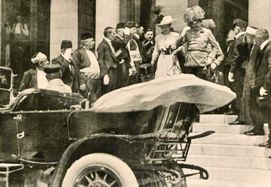 Archduke Francis Ferdinand and his wife shortly before their assassination