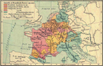 Map of Frankish Territories 481-814