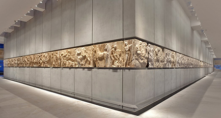 View of the West and South Frieze of the Parthenon