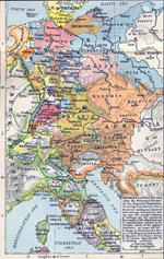 Map of Germany and Italy in 1803