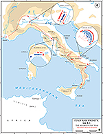 Second Punic War 218 – 201 BC: Hannibal's Route of Invasion