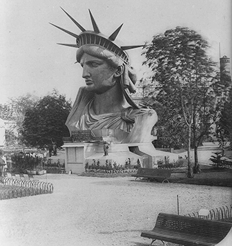 Statue of Liberty Head at Expo in Paris 1878