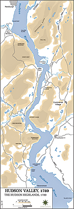 Map of the Hudson Highlands 1780