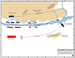 Battle of Hydaspes 326 BC - Crossing of the River - Map