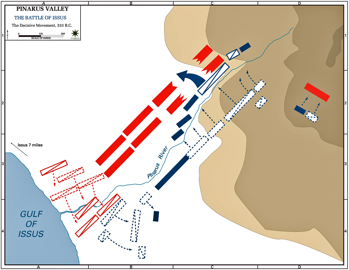 Map of the Battle of Issus, 333 BC - Decisive Action