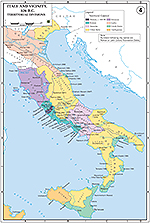 Map of Italy and Vicinity 326 BC