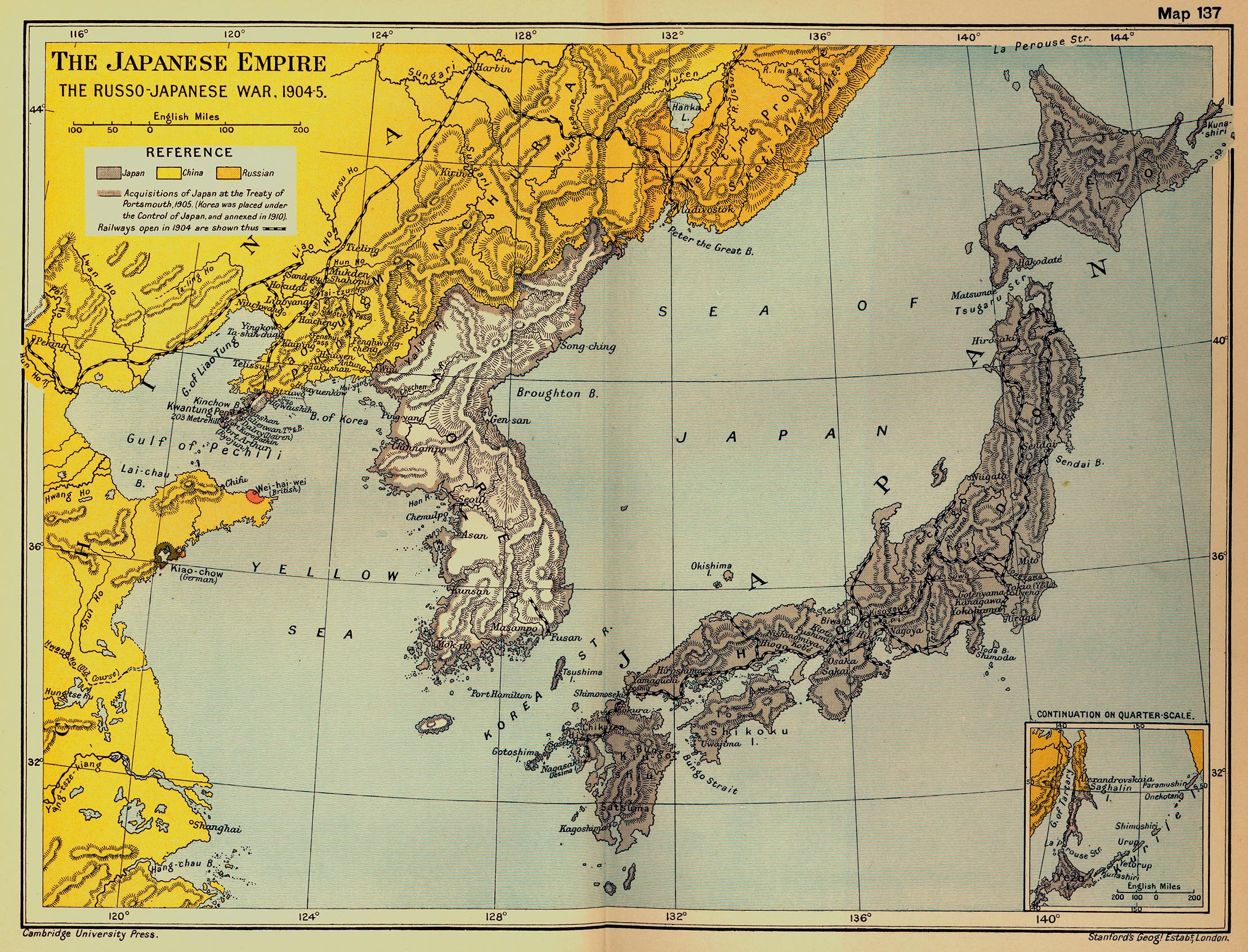 Map of the Japanese Empire: The Russo-Japanese War, 1904-1905