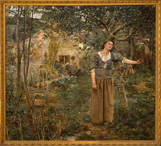 Joan of Arc Painting by Jules Bastien-Lepage, who created it in 1879. Oil on canvas. Met.
