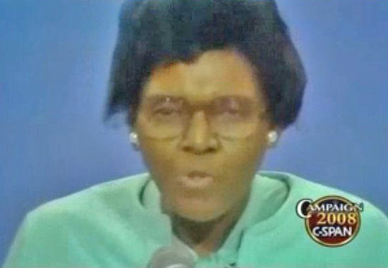BARBARA JORDAN SPEAKING AT THE DNC IN NEW YORK - JULY 12, 1976