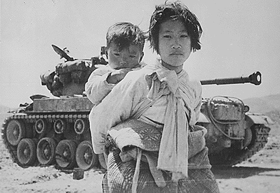 LIVING IN A WAR-ZONE - KOREA 1951