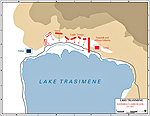 Battle of Lake Trasimere - Map - 217 BC